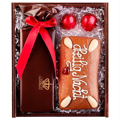 Lebkuchen, Likör, Pralinen als Werbepräsente Weihnachten