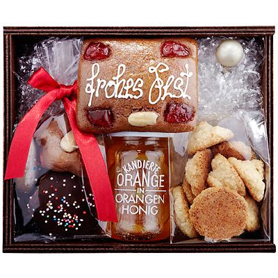 Lebkuchen, Honig und Kokosbusserl als Geschenk Präsent