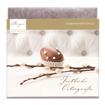 Werbepräsent Champagner-Schokladentafel