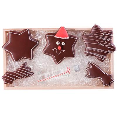 Lebkuchen Sterne als Werbepräsente Weihnachten