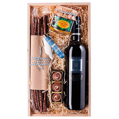 Rauchstängel, Trüffel und  Rotwein als Geschenk Präsent