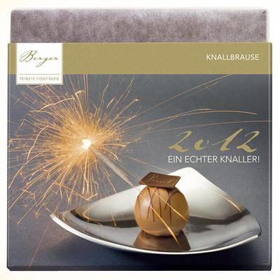 Silvester & Neujahr – Schokoladentafel als Werbepräsent
