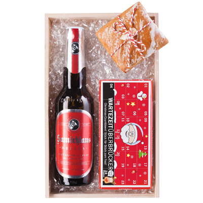 Bier, Lebkuchen, Schokolade als Werbepräsente Weihnachten
