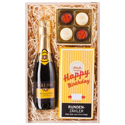 Geschenk Set Happy Birthday als Werbepräsent