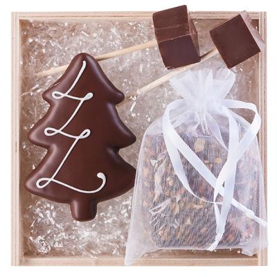 Lebkuchen, Tee, Schokolade als Werbepräsente Weihnachten