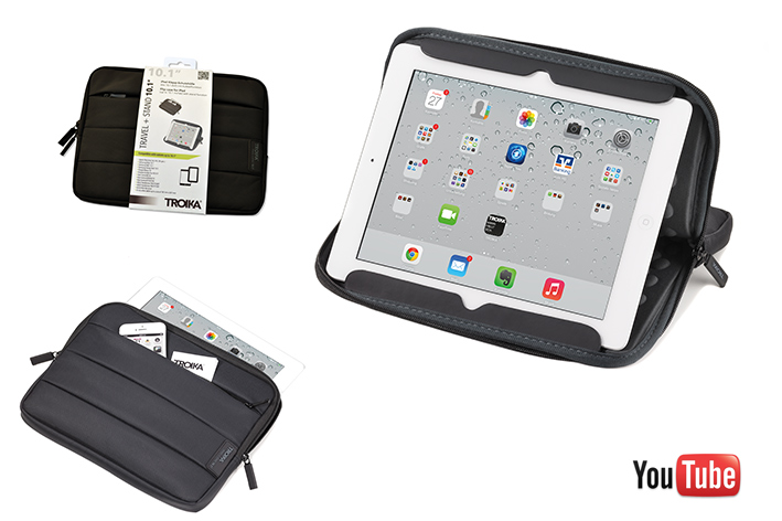 TROIKA Tablet Hülle TRAVEL + STAND 10.1-