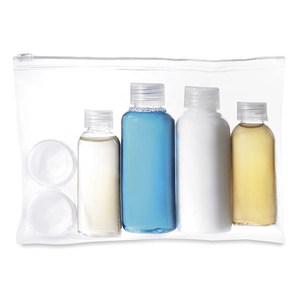 Kosmetiktasche transparent (bedrucken als Werbeartikel)