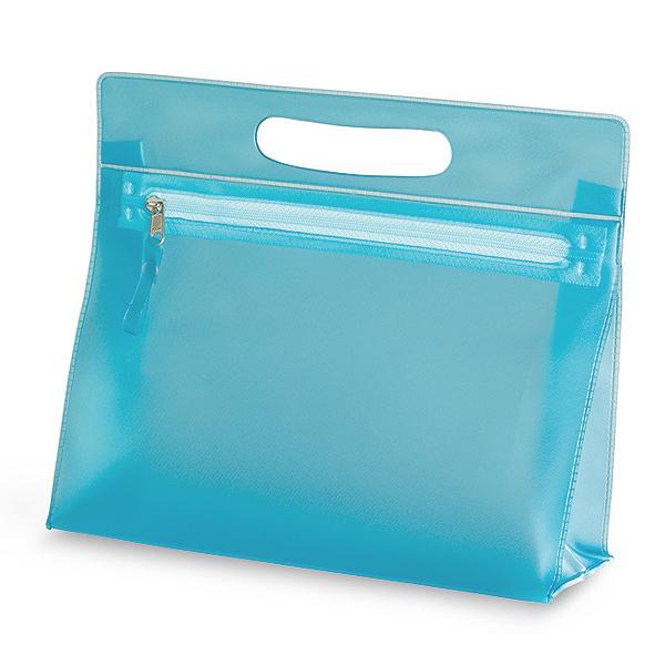 Kosmetikbag in blau, rosa oder transparent (bedruckbar)