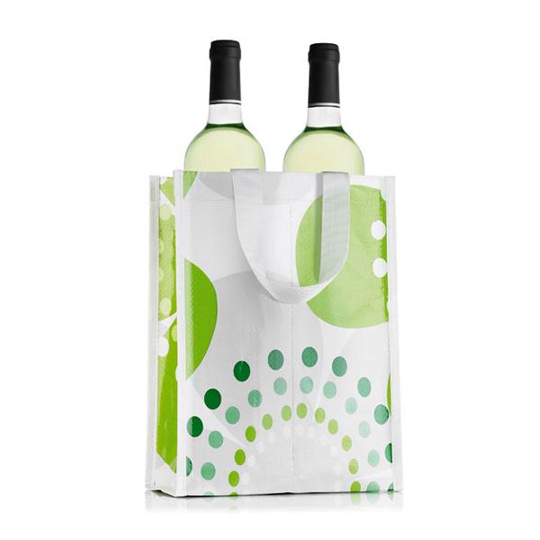 2er Non/ Woven Tasche für Flaschen – zum bedrucken