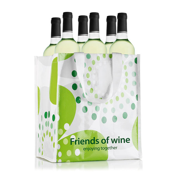 6er Non/ Woven Tasche für Flaschen – zum bedrucken mit Grafik