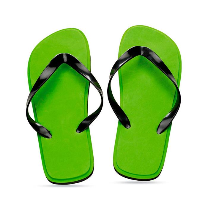 Badeschuhe grün (bedruckbar als Werbeartikel mit Logo)