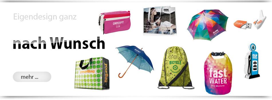 Werbeartikel in Ihrem Eigendesign produziert als Sonderanfertigung von München-Werbeartikel