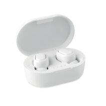 True Wireless Stereo (TWS) 5.0 Ohrhörer aus recyceltem ABS mit eingebautem 40 mAh Akku - bedruckbar