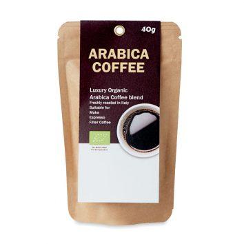Kaffeepulver. Frisch geröstet in Italien