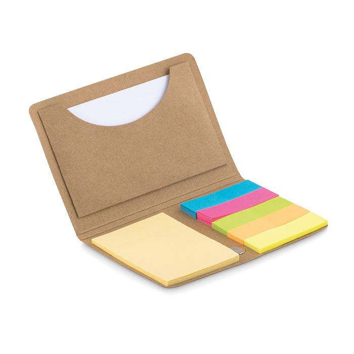 Visitenkartenhalter Mit Notizzetteln Und 5 Farbigen Markerblöcken Bedruckbar