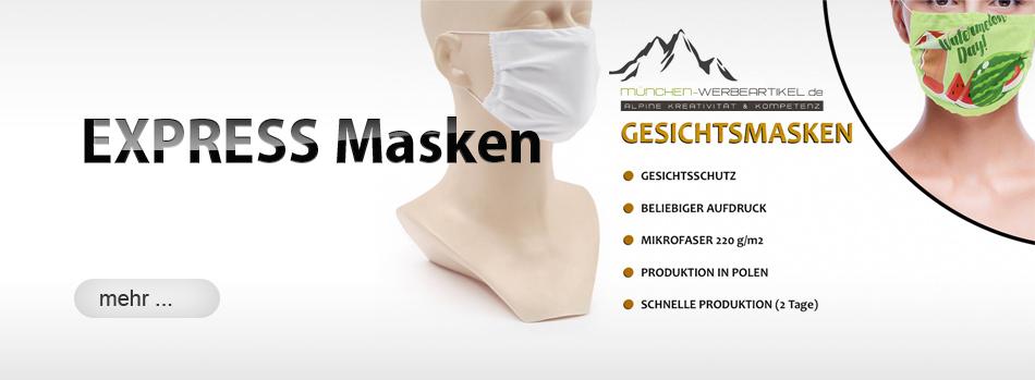 Gescihtsmasken EXPRESS von München Werbeartikel