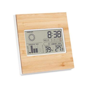 Wetterstation mit Temperatur, Kalender, Zeit und Luftfeuchtigkeit