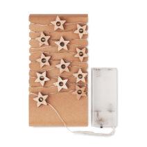 Lichterkette mit Sternen aus Holz