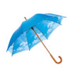 23'' Regenschirm mit Stock aus Holz - als Werbemittel