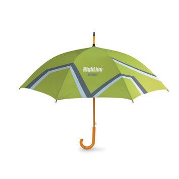 Regenschirm mit Holzgriff und automatischer Öffnung