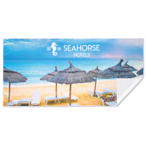 Full Color bedruckte Strandtücher aus 100% Mikrofaser (240g/m²).