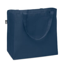 Tasche mit langen Tragegriffen und Bodenfalte