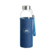 Trinkflasche aus Glas mit Neopren-Schutzhülle