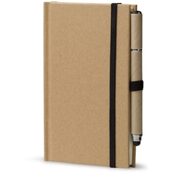 Notizbuch aus Karton DIN A6 + Stylus Kugelschreiber - bedruckbar