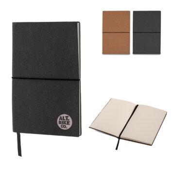 Notizbuch mit Einband aus recyceltem Leder - bedruckbar