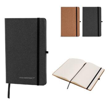 Hardcover-Notizbuch mit Einband aus recycelten Leder DIN A5 - bedruckbar