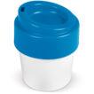 Heiss-aber-Cool Kaffeebecher mit Deckel aus 95 % Zuckerrohr 240 ml - bedruckbar