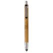 Kugelschreiber Antartica aus Bambus mit Touch - bedruckbar