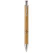 Kugelschreiber Alicante aus Bambus mit Metallclip - bedruckbar