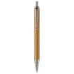 Kugelschreiber aus Bambus mit Metallclip und metallisierter Spitze - bedruckbar