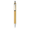 Kugelschreiber aus Bambus mit Metallclip - bedruckbar