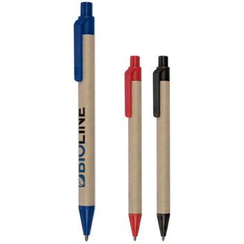 Papierkugelschreiber mit farbigen Unterteilen - bedruckbar
