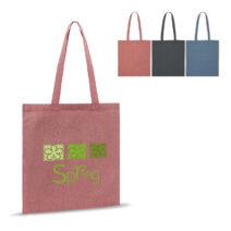 Einkaufstasche aus recycelter Baumwolle 38 x 42 cm - bedruckbar