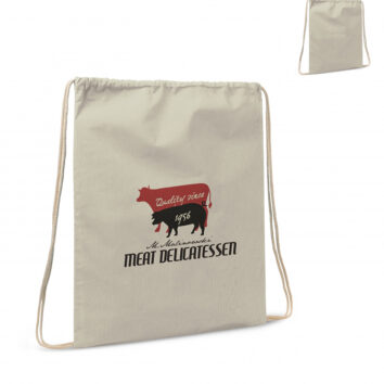 Baumwollbeutel mit Kordelzug OEKO-TEX® Baumwolle 35 x 45 cm - bedruckbar