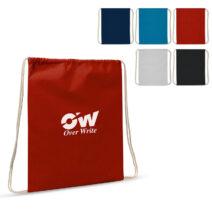 Baumwollbeutel mit Kordelzug OEKO-TEX® Baumwolle 35 x 45 cm in diversen Farben - bedruckbar