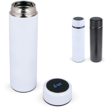 Flasche mit Temperaturanzeige 500 ml - bedruckbar