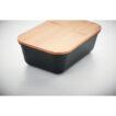 Lunch- oder Sandwichbox aus PP mit einem Deckel aus Bambus - bedruckbar