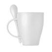 Wiederverwendbarer Kaffeebecher mit Löffel aus PP - bedruckbar