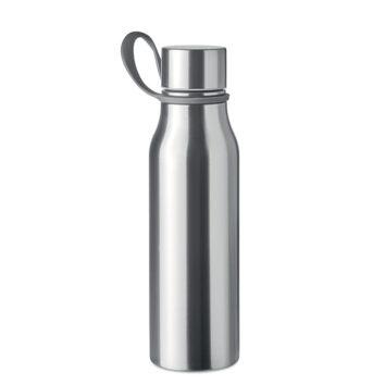 Doppelwandige Isolierflasche aus Edelstahl mit Schlaufe aus TPU - bedruckbar