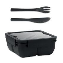 Lunchbox aus PP mit 2 Fächern - bedruckbar