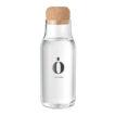 Flasche aus Borosilikatglas mit einem Verschluss aus Kork - bedruckbar