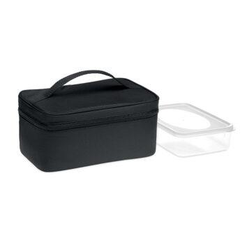 Isolierte Lunch-/Kühltasche aus 600D RPET mit wiederverwendbarer PP-Lunchbox - bedruckbar