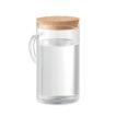Wasser- oder Saft-Karaffe aus Borosilikatglas mit einem Verschluss aus Kork - bedruckbar