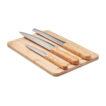 Set mit Schneidebrett aus Bambus und 3 Messern - bedruckbar