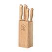 Messerblock aus Holz mit 5 unterschiedlichen Messern - bedruckbar