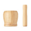 Mörser mit Stößel aus Bambus - bedruckbar